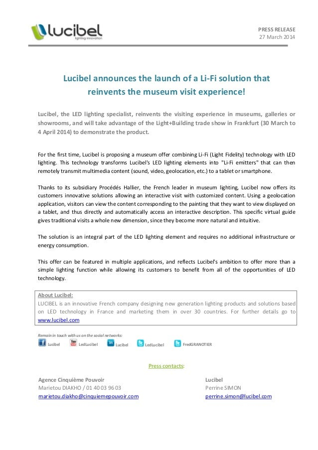 [EN] Lucibel announces the launch of a Li-Fi solution !