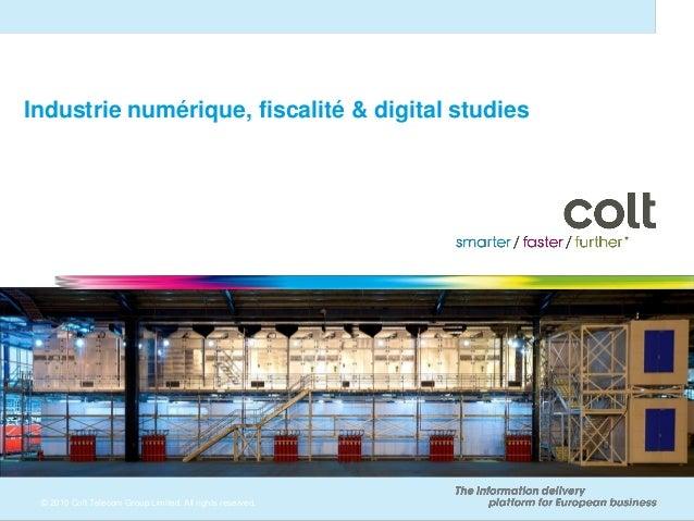 Industrie numérique, fiscalité & digital studies                                                                          ...