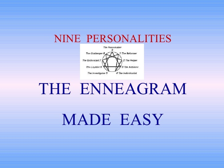 THE  ENNEAGRAM MADE  EASY NINE  PERSONALITIES