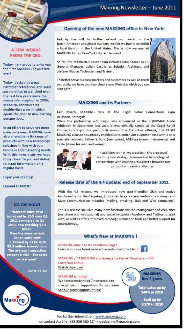 En newsletter