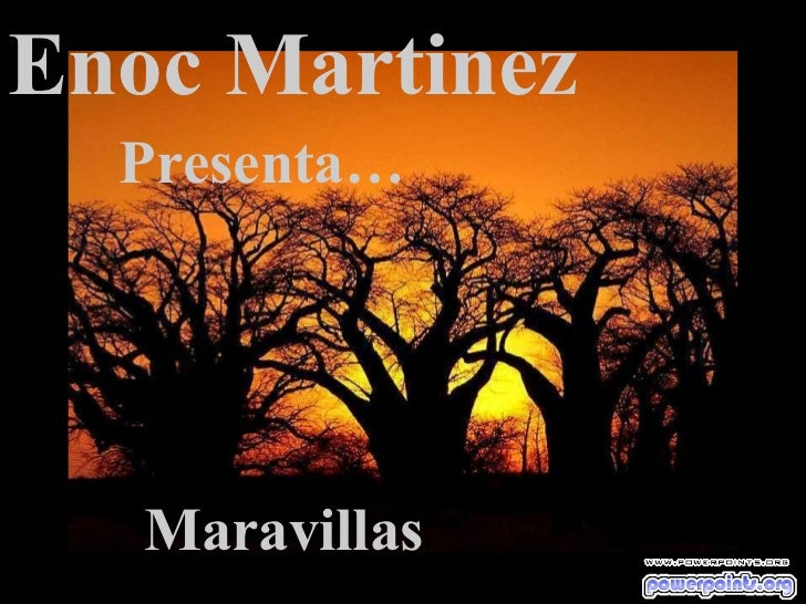 Enoc Martinez Presenta… Maravillas
