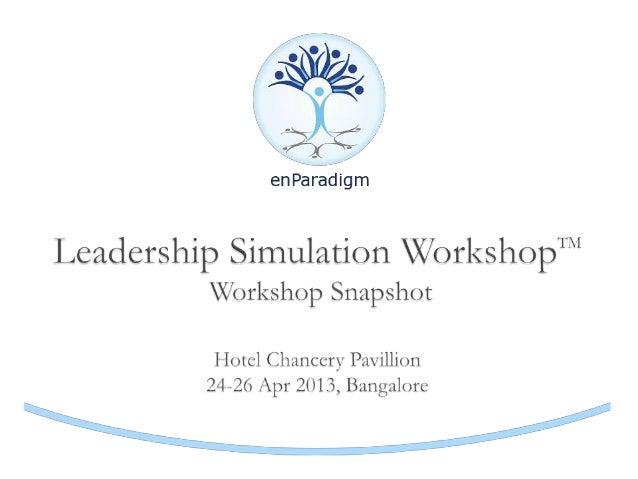 Snapshot - enParadigm Leadership Simulation Workshop, April 24-26, 2013, Bangalore