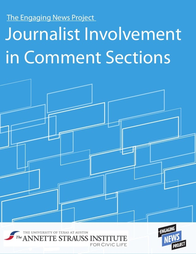 The Engaging News Project  Journalist Involvement in Comment Sections