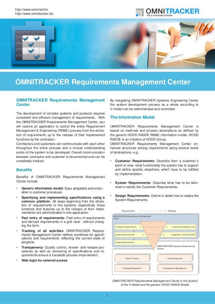 http://www.omninet.bizhttp://www.omnitracker.bizOMNITRACKER Requirements Management CenterOMNITRACKER Requirements Managem...