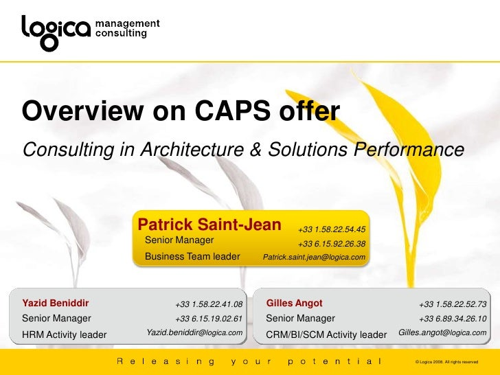 Overview on CAPS offer<br />Consulting in Architecture & Solutions Performance<br />Patrick Saint-Jean<br />+33 1.58.22.54...