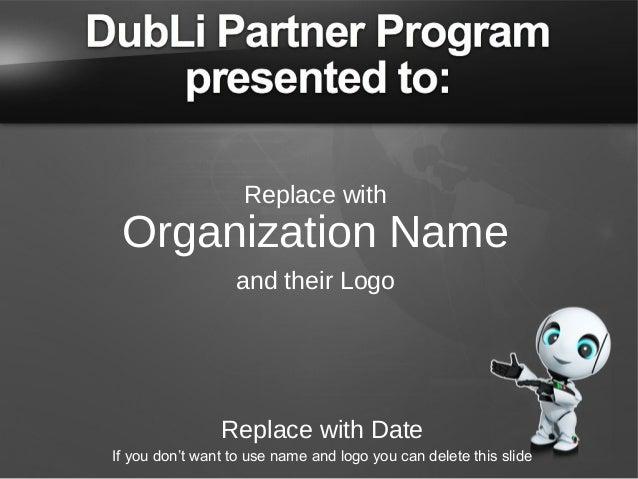 DubLi Partner Program Non Profit