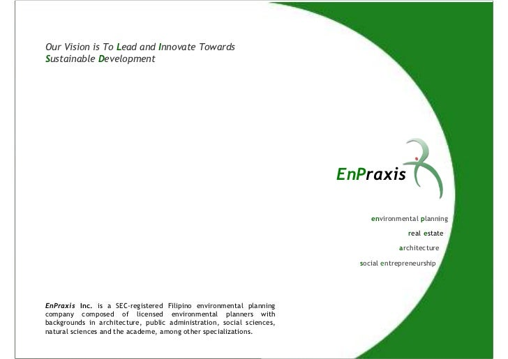 Our Vision is To Lead and Innovate TowardsSustainable Development                                                         ...