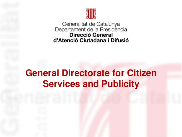 General Directorate for Citizen   Services and Publicity