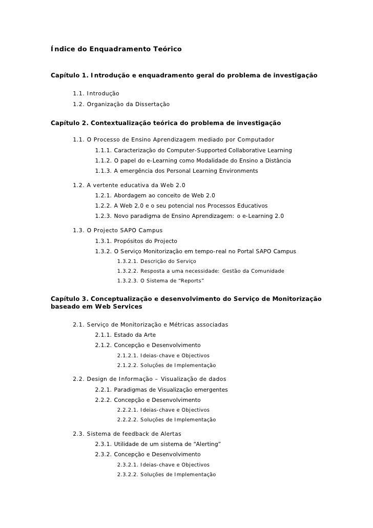 Índice do Enquadramento Teórico   Capítulo 1. Introdução e enquadramento geral do problema de investigação        1.1. Int...