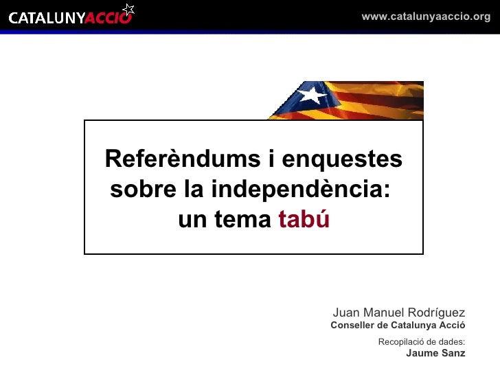 Enquestes de independencia