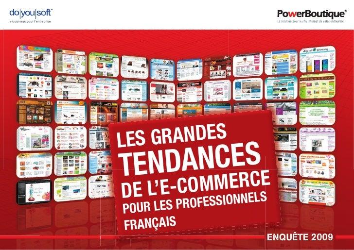 LES G RANDES TENDANCESE DE L'   RC       E-COMMOE NELS             I N      LES PROFESS POUR FRANÇAIS                    E...