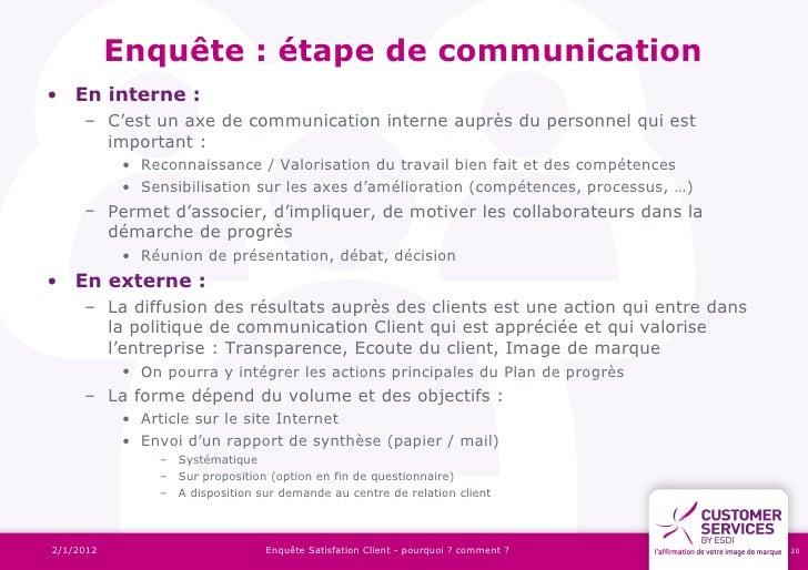 Exemple enquete satisfaction client interne document online - Enquete de satisfaction pret a porter ...