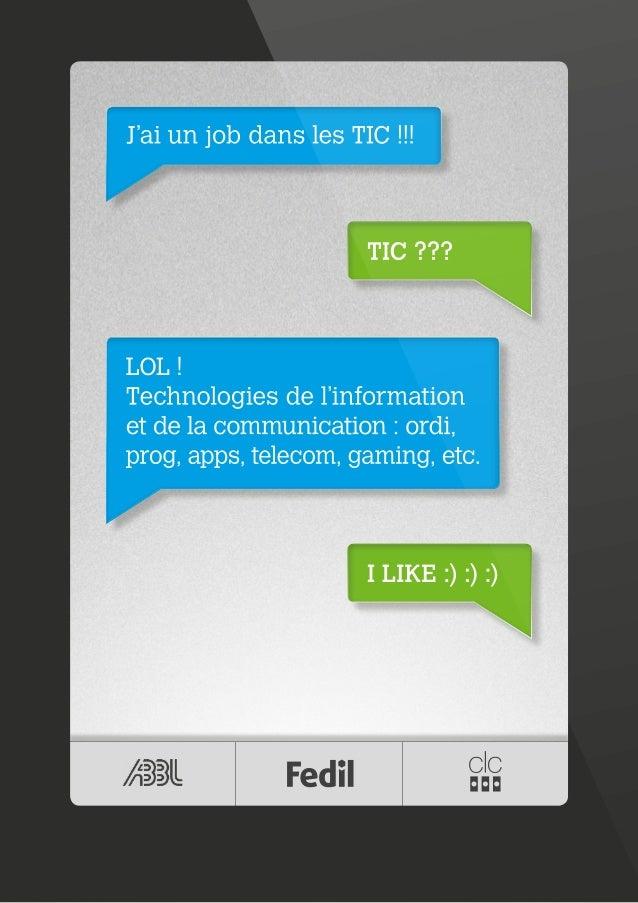 Les TIC, ton job d'avenir! Edition 2014