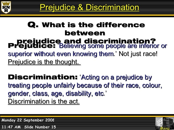 racial discrimination and class prejudice Race, class and marxism marxism has and the resultant race discrimination that flowed from it were not the full impact of racism and discrimination in the.
