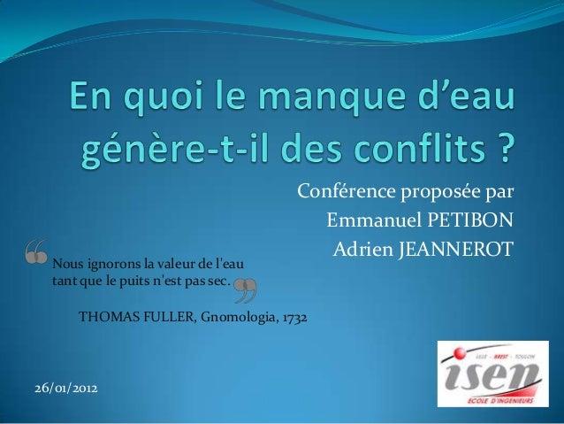 Conférence proposée par                                       Emmanuel PETIBON                                        Adri...