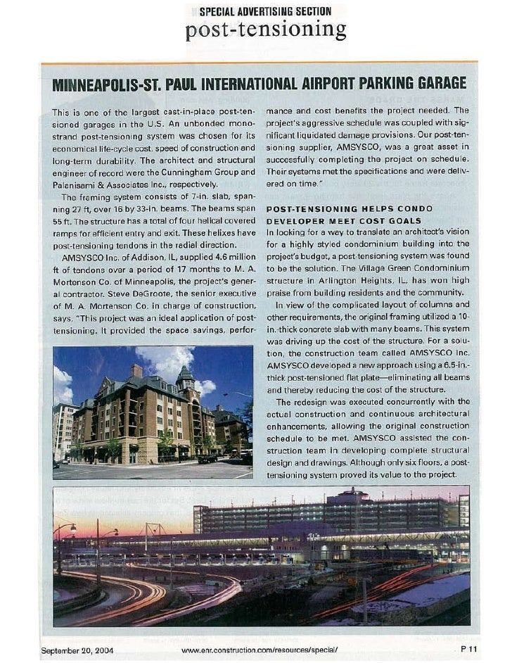 ENR Article: Minneapolis St. Paul Airport Garage
