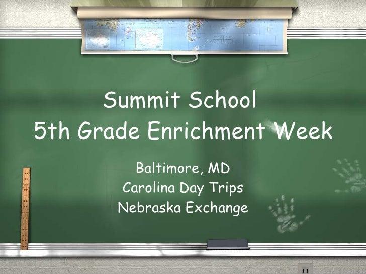 Enrichment week powerpoint