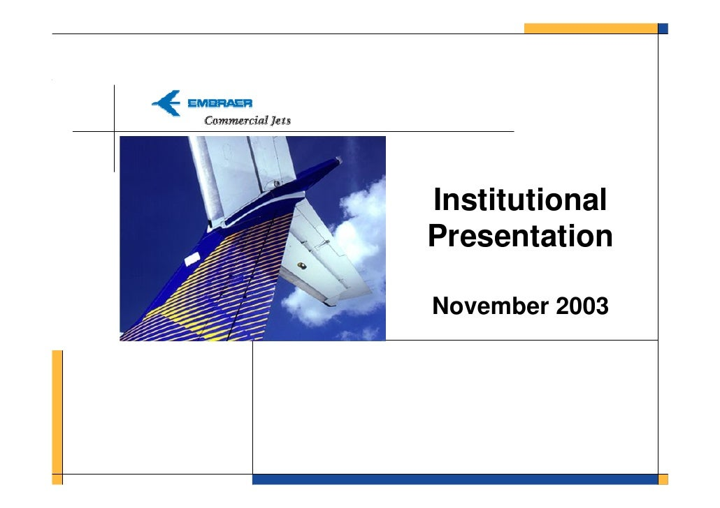 Institutional Presentation  November 2003