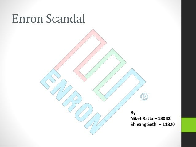essay on enron scandal