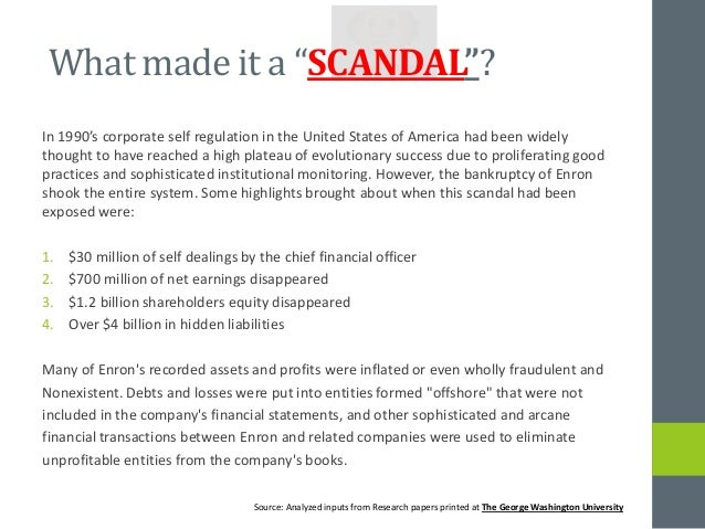 Sarbanes-Oxley and Enron