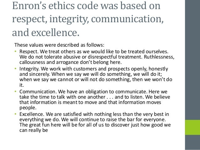enron ethics and organizational culture case study