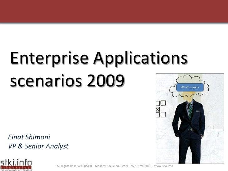 Enterprise Applications scenarios 2009                                                                                   W...