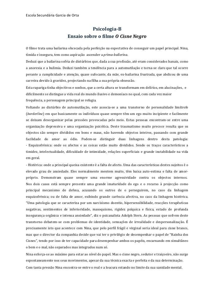Escola Secundária Garcia de Orta                                                          Psicologia-‐B      ...