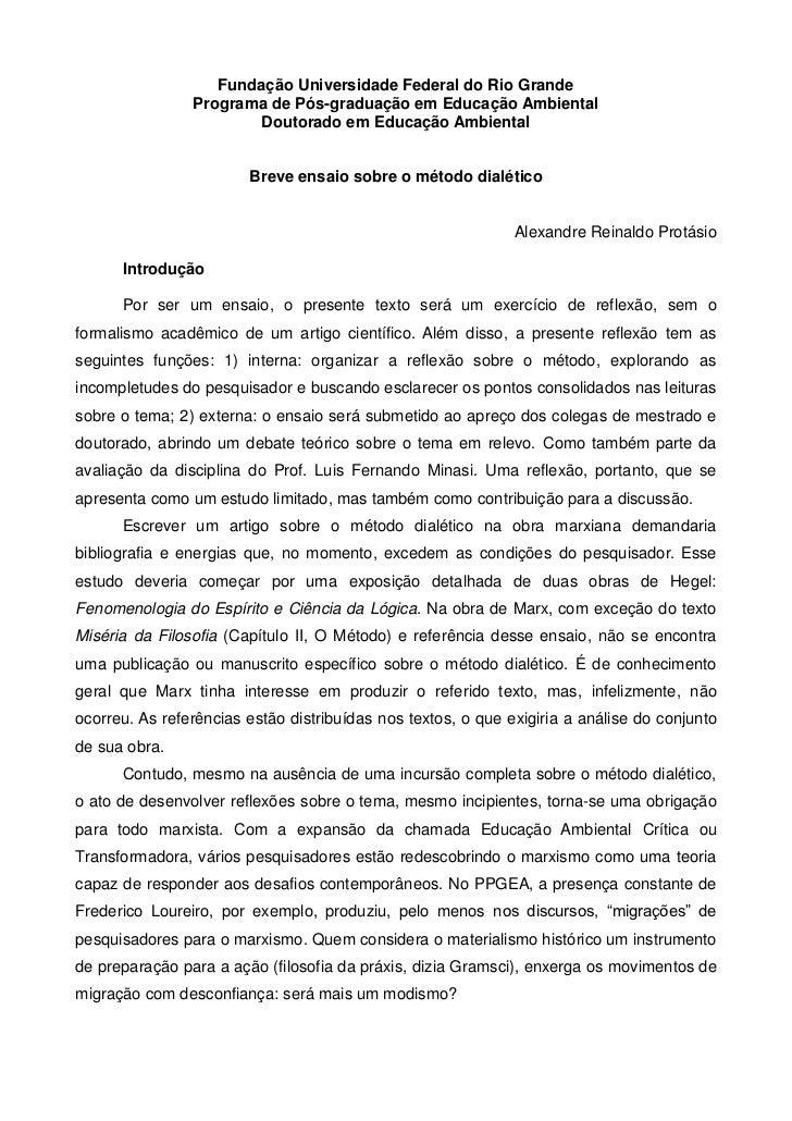 Fundação Universidade Federal do Rio Grande                Programa de Pós-graduação em Educação Ambiental                ...