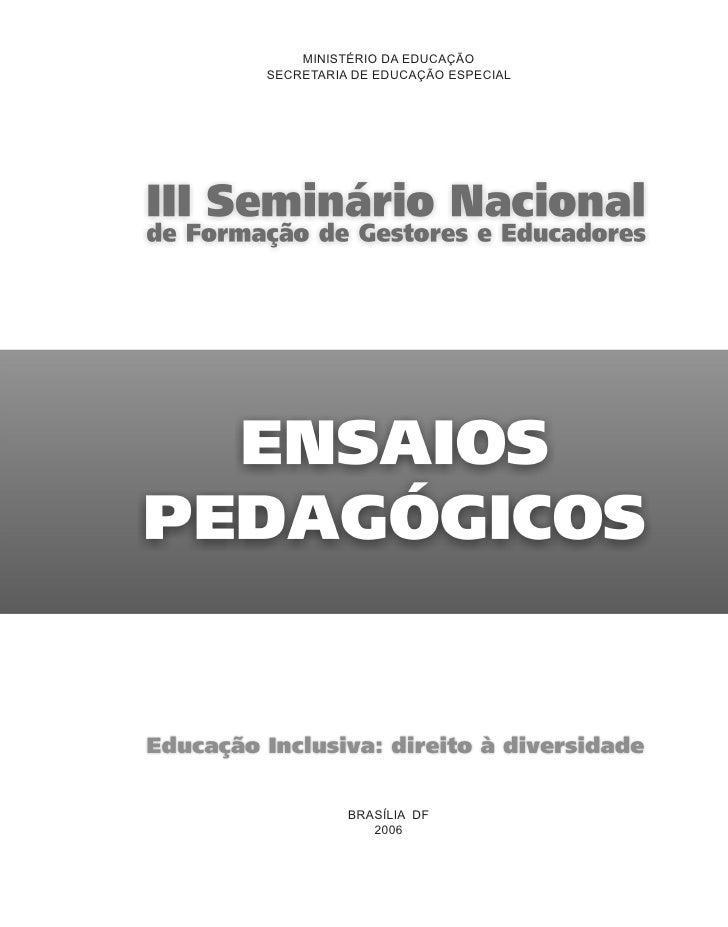 MINISTÉRIO DA EDUCAÇÃO SECRETARIA DE EDUCAÇÃO ESPECIAL               BRASÍLIA DF              2006