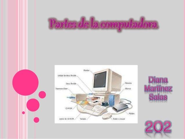 COMPUTADORA  . En sí es un dispositivo electrónico capaz de interpretar y ejecutar los comandos programados para realizar...