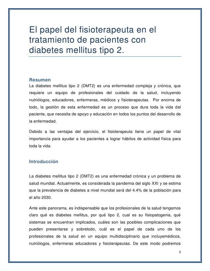 .papel del fisioterapeuta en el tratamiento de pacientes con diabet