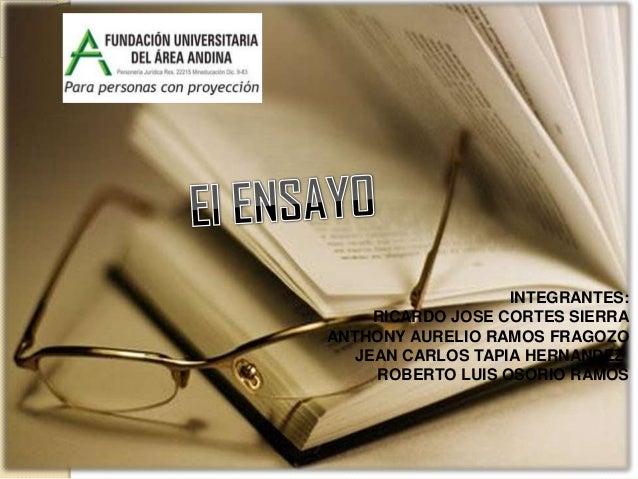 INTEGRANTES:     RICARDO JOSE CORTES SIERRAANTHONY AURELIO RAMOS FRAGOZO   JEAN CARLOS TAPIA HERNANDEZ     ROBERTO LUIS OS...