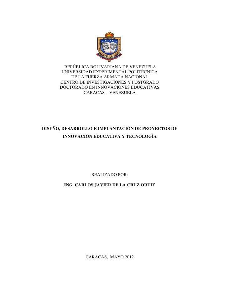 REPÚBLICA BOLIVARIANA DE VENEZUELA       UNIVERSIDAD EXPERIMENTAL POLITÉCNICA           DE LA FUERZA ARMADA NACIONAL      ...