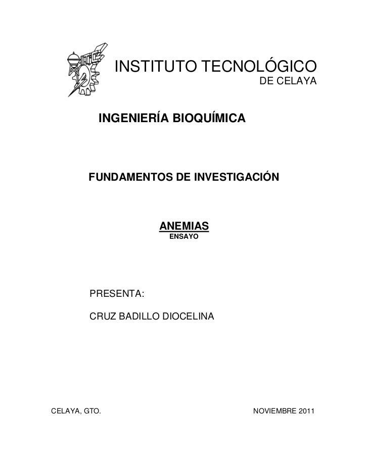 INSTITUTO TECNOLÓGICO                                    DE CELAYA           INGENIERÍA BIOQUÍMICA        FUNDAMENTOS DE I...