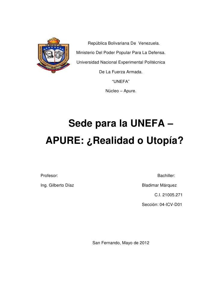 República Bolivariana De Venezuela.                     Ministerio Del Poder Popular Para La Defensa.                     ...