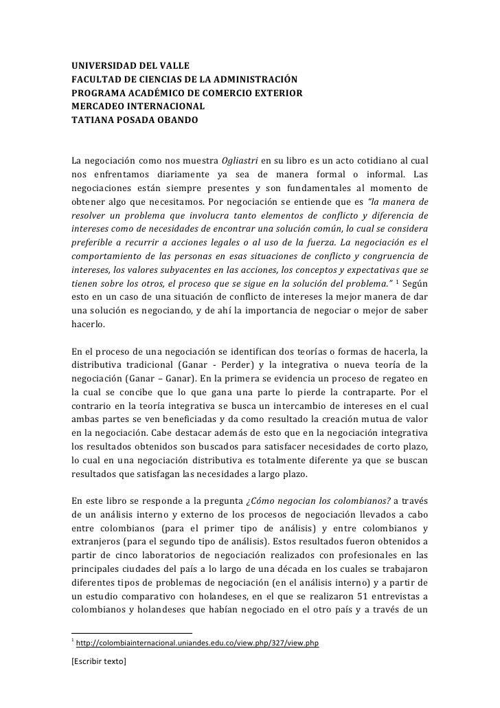UNIVERSIDAD DEL VALLEFACULTAD DE CIENCIAS DE LA ADMINISTRACIÓNPROGRAMA ACADÉMICO DE COMERCIO EXTERIORMERCADEO INTERNACIONA...