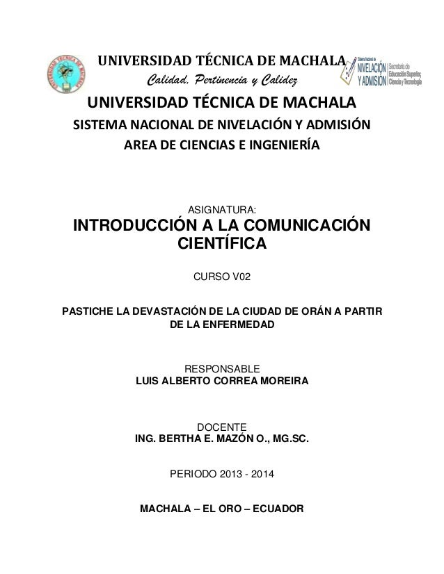 UNIVERSIDAD TÉCNICA DE MACHALA Calidad, Pertinencia y Calidez  UNIVERSIDAD TÉCNICA DE MACHALA SISTEMA NACIONAL DE NIVELACI...