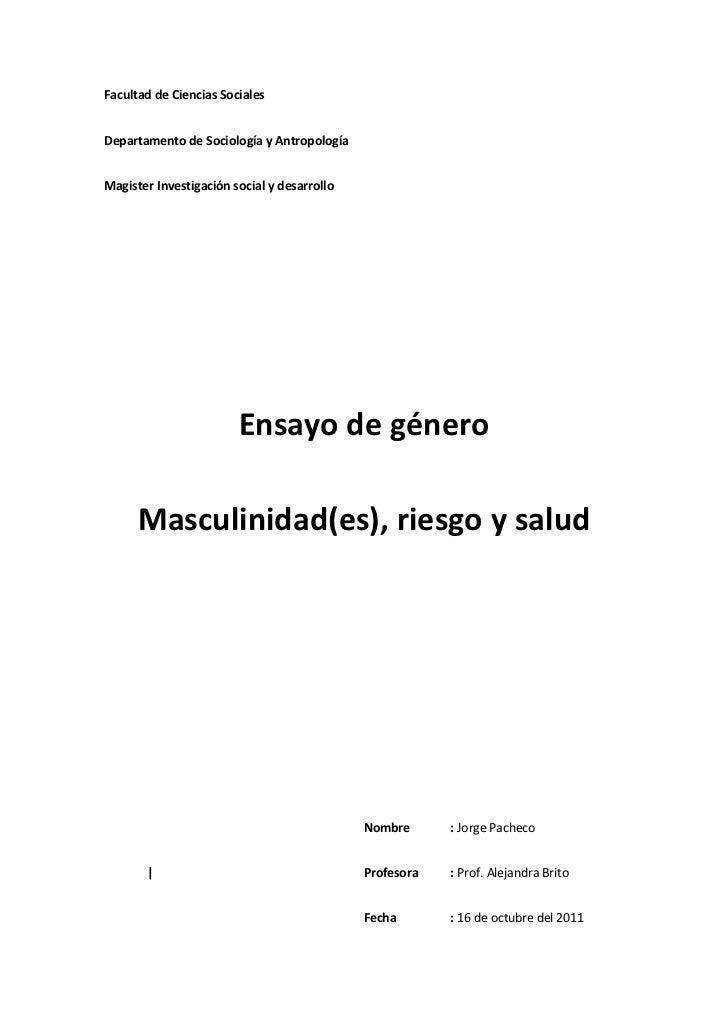 Facultad de Ciencias SocialesDepartamento de Sociología y AntropologíaMagister Investigación social y desarrollo          ...