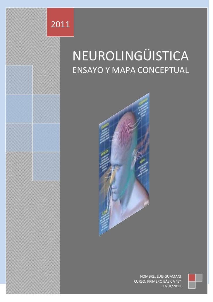 Ensayo de neurolinguistica
