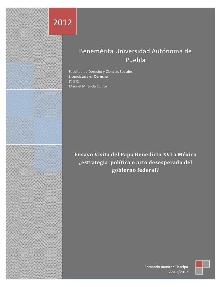 2012         Benemérita Universidad Autónoma de                       Puebla   Facultad de Derecho y Ciencias Sociales   L...