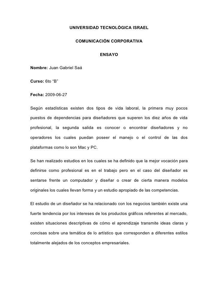 UNIVERSIDAD TECNOLÓGICA ISRAEL                          COMUNICACIÓN CORPORATIVA                                       ENS...