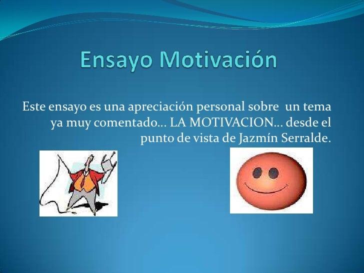 Ensayo Motivacion Compu