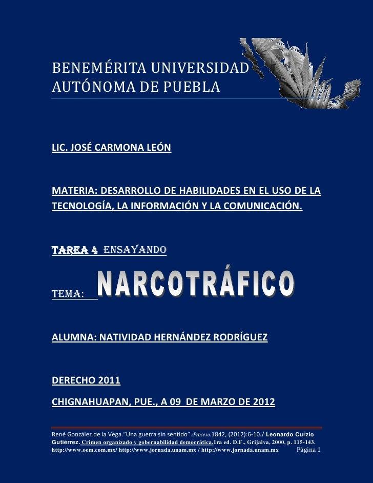 BENEMÉRITA UNIVERSIDADAUTÓNOMA DE PUEBLALIC. JOSÉ CARMONA LEÓNMATERIA: DESARROLLO DE HABILIDADES EN EL USO DE LATECNOLOGÍA...