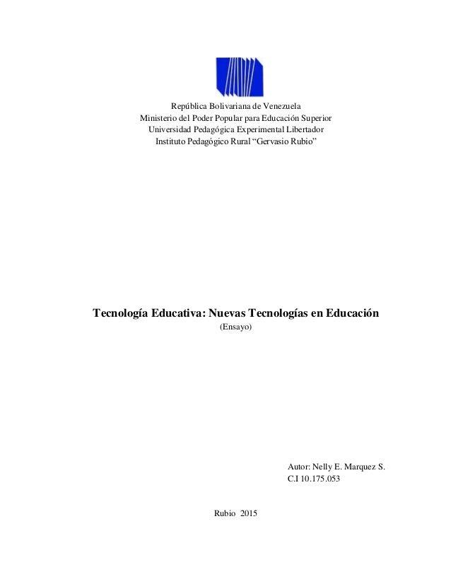 República Bolivariana de Venezuela Ministerio del Poder Popular para Educación Superior Universidad Pedagógica Experimenta...