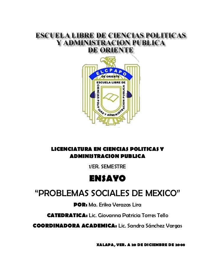 LICENCIATURA EN CIENCIAS POLITICAS Y             ADMINISTRACION PUBLICA                     1/ER. SEMESTRE                ...