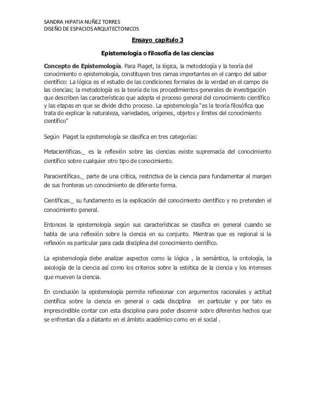 SANDRA HIPATIA NUÑEZ TORRESDISEÑO DE ESPACIOS ARQUITECTONICOS                                    Ensayo capitulo 3        ...