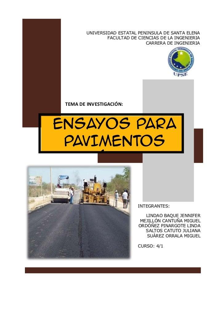 UNIVERSIDAD ESTATAL PENINSULA DE SANTA ELENA                 FACULTAD DE CIENCIAS DE LA INGENIERIA                        ...