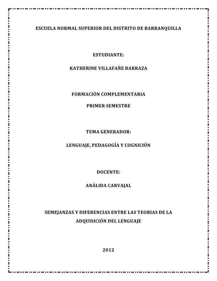 ESCUELA NORMAL SUPERIOR DEL DISTRITO DE BARRANQUILLA                     ESTUDIANTE:            KATHERINE VILLAFAÑE BARRAZ...
