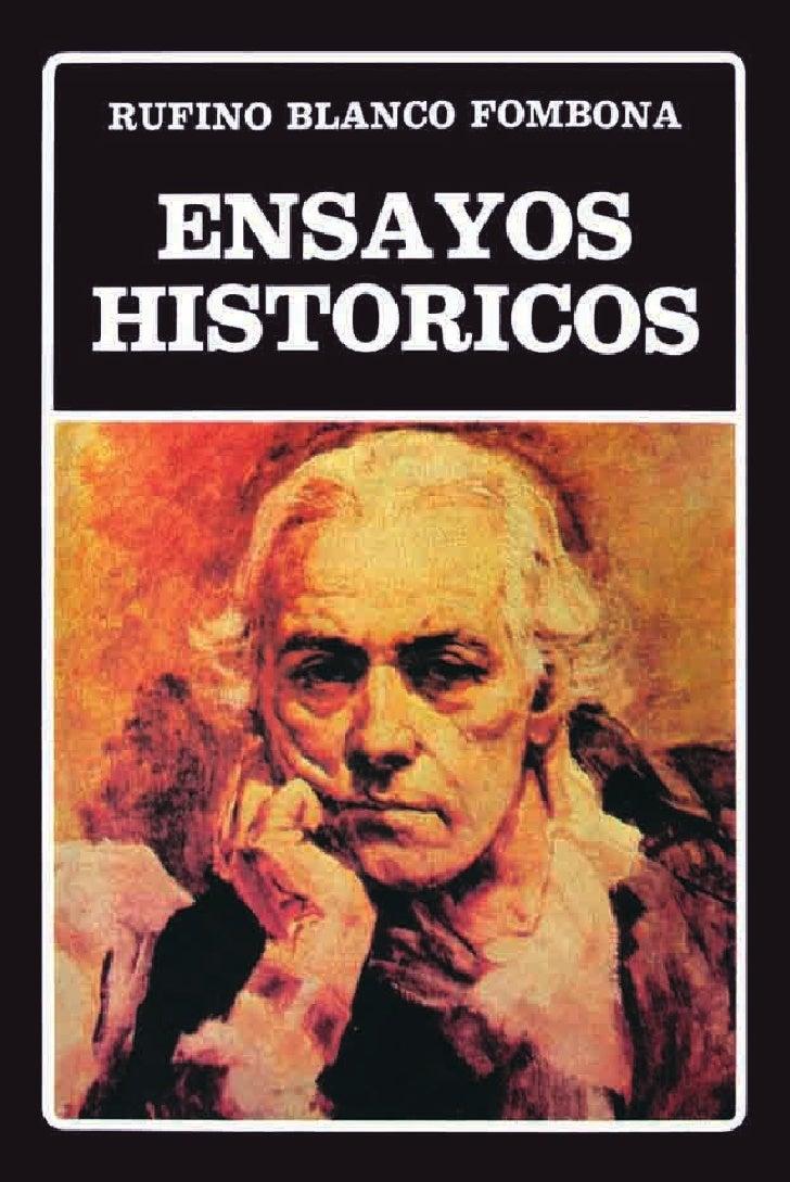 Ensayos historicos