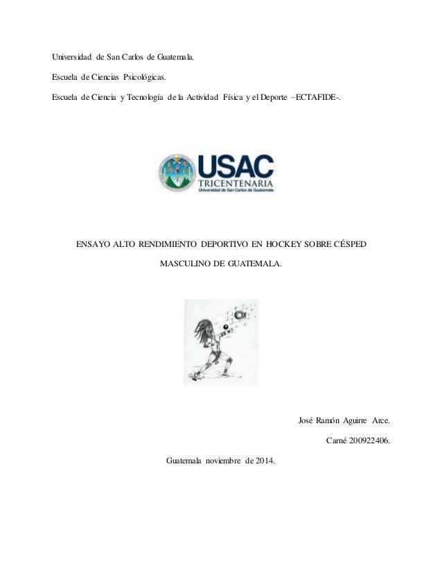 Universidad de San Carlos de Guatemala.  Escuela de Ciencias Psicológicas.  Escuela de Ciencia y Tecnología de la Activida...